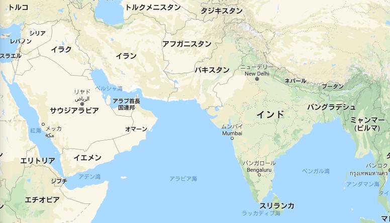 地図 パキスタンの位置