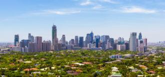 写真 フィリピン都市部の風景