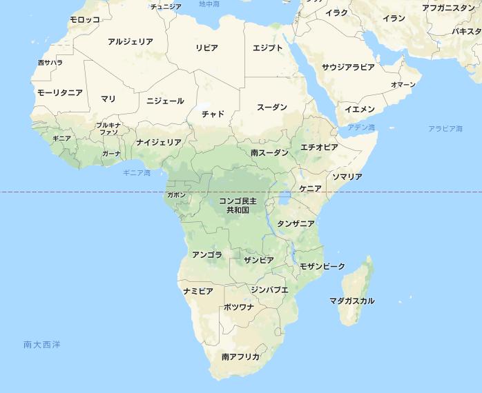 地図 アフリカ大陸