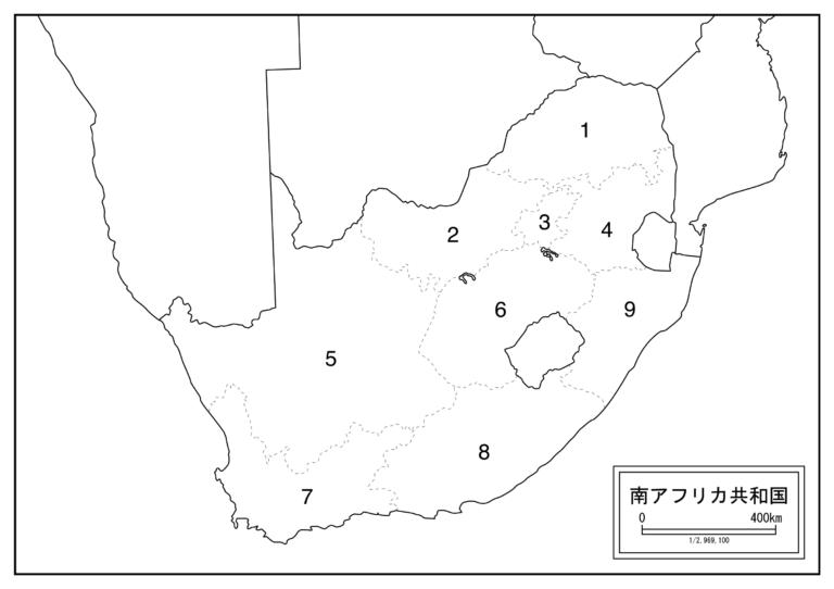 地図 南アフリカ共和国
