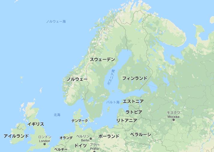 地図 スウェーデンの位置