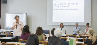ワールド・ファミリー バイリンガル サイエンス研究所が早稲田大学で早期外国語学習に 関するセミナーを開催しました!