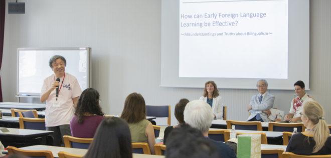 ワールド・ファミリー バイリンガル サイエンス研究所が早稲田大学で早期外国語学習に関するセミナーを開催しました!